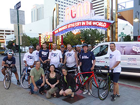 Chris Carrino Foundation bike riders