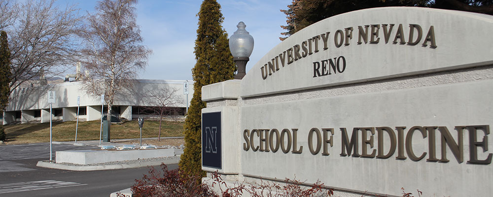 NSPHL Building with the UNR Med sign