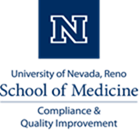 UNR Med Logo, with Compliance & Quality Improvement subtitle