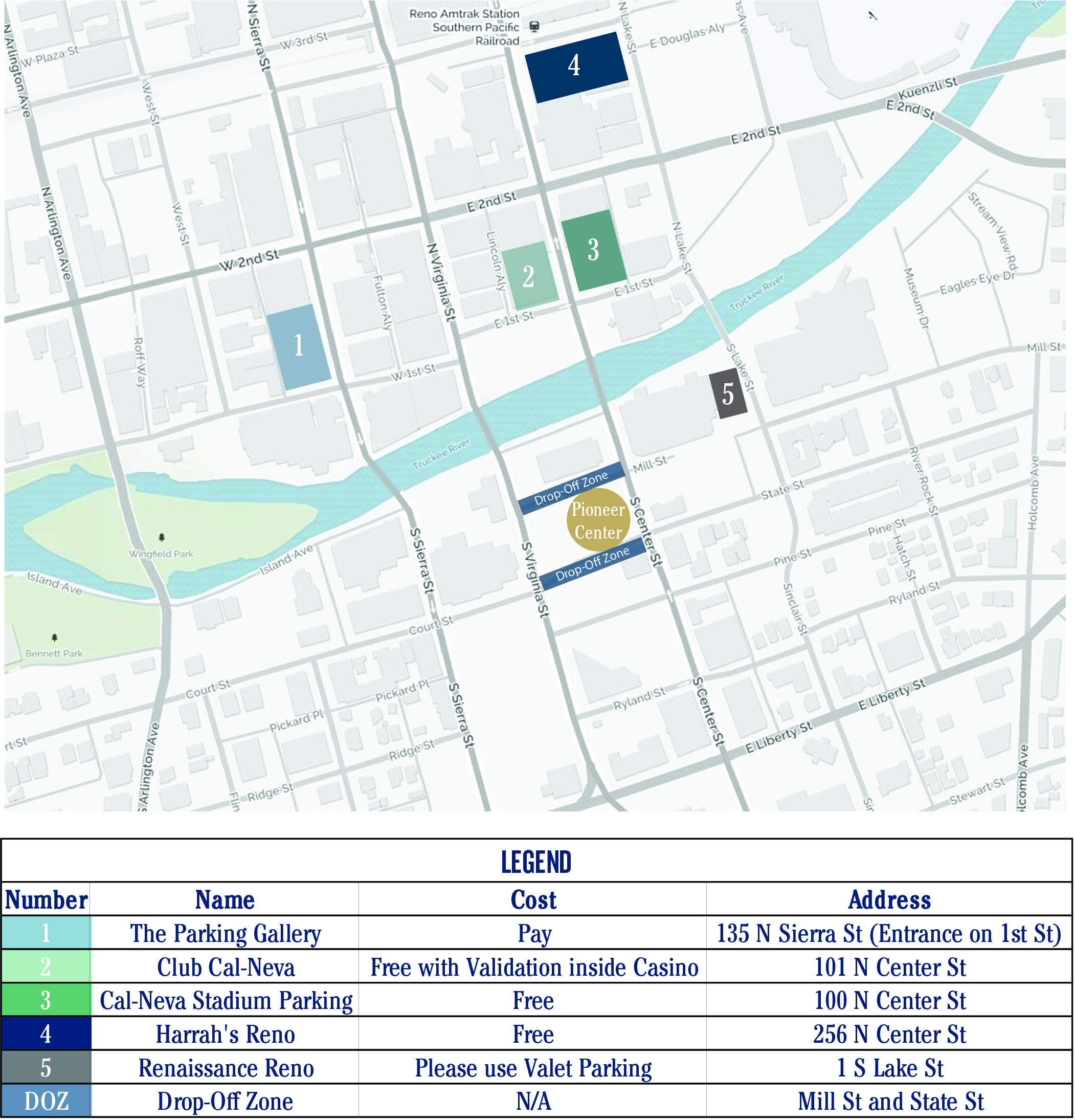 Unr Parking Map Academic Hooding Ceremony Location: Graduation: University of  Unr Parking Map