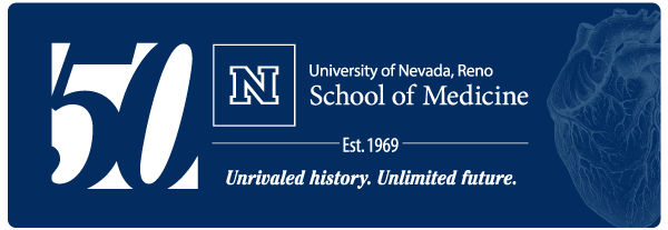 UNR Med 50th logo stacked