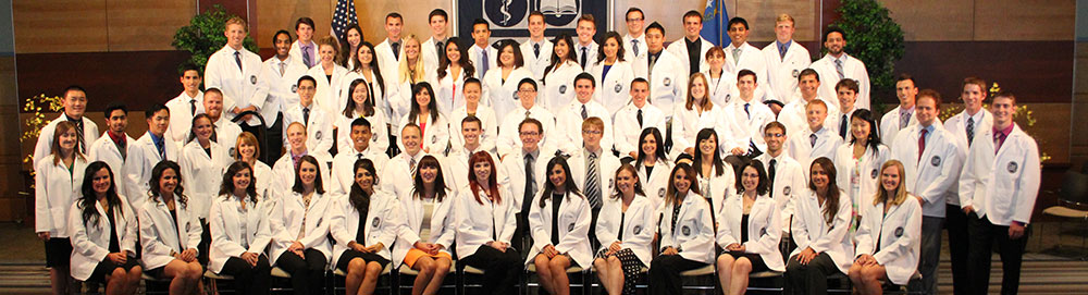 Class of 2014 in their white coats