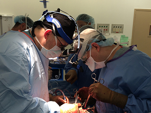surgeons performing operation