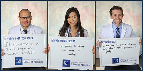 Med Students with Signs