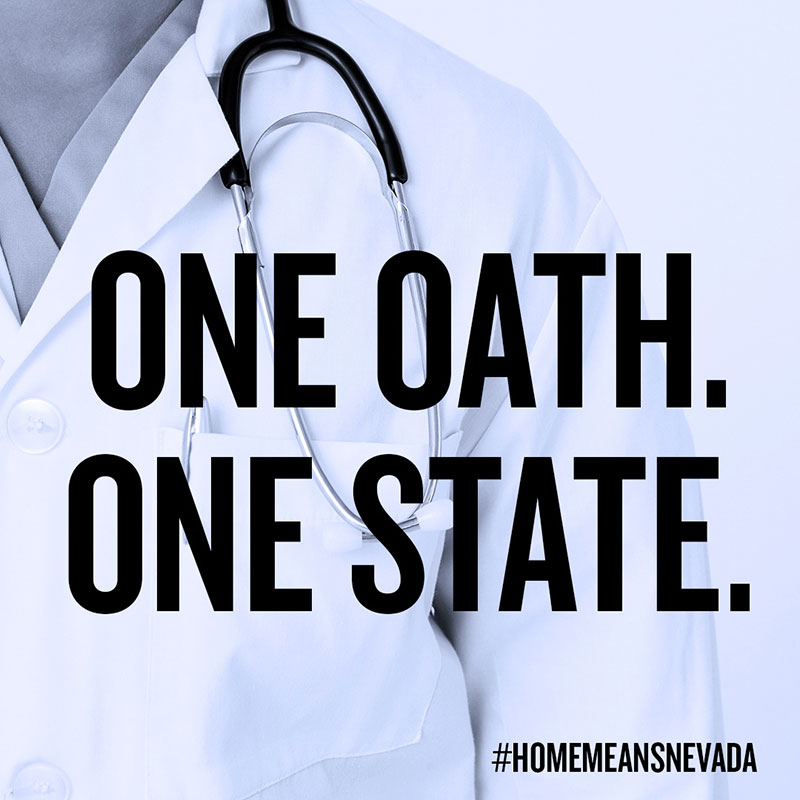 One Oath. One State. #HomeMeansNevada