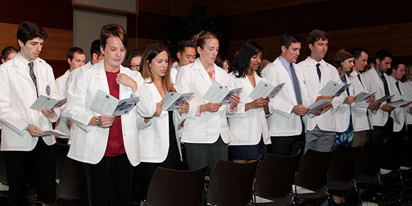 Students at the 2016 White Coat Ceremony
