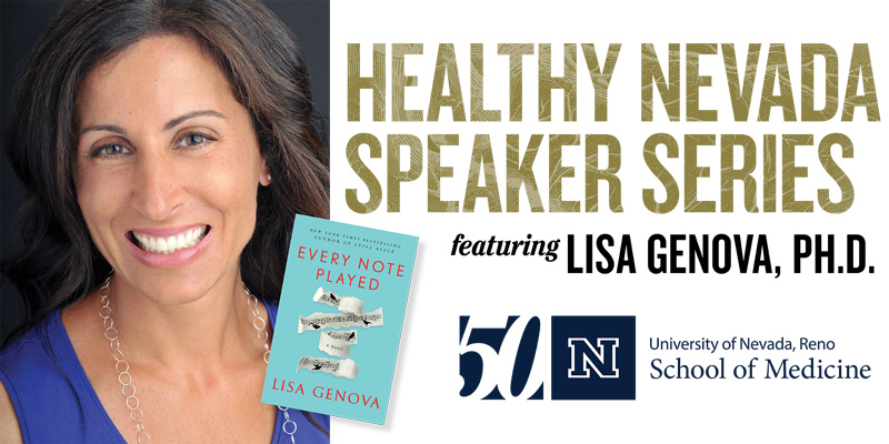 Healthy Nevada Speaker Series Featuring Dr. Lisa Genova