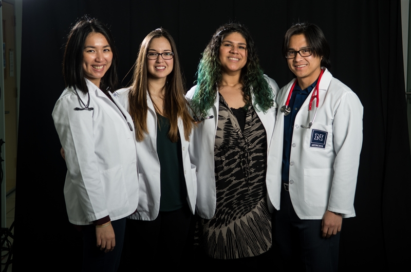 UNR Med students supporting diversity.