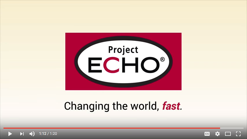 Project ECHO, Changing the World Fast Video Screen