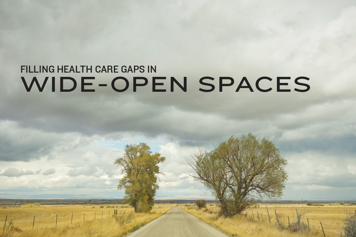 Filling Health Care Gaps in Wide Open Spaces - Open field with 2 trees in Elko