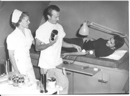 Blood Donor in 1955