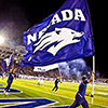 Nevada flag at football game