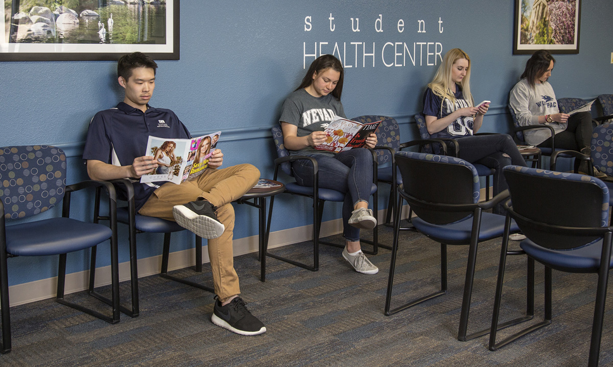 Students in waiting room