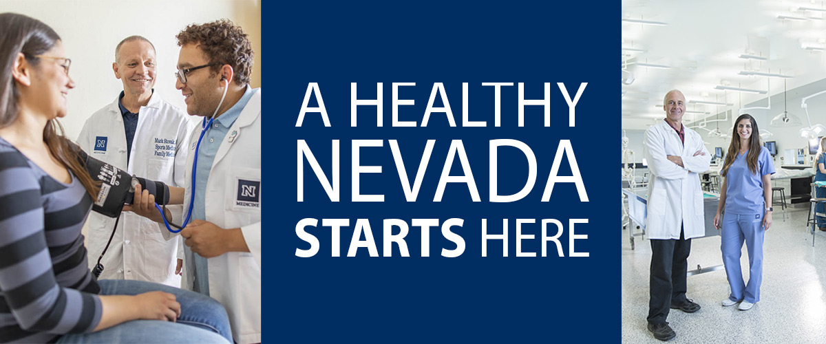 A Healthy Nevada Starts Here image with dr. and patients